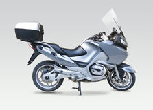 被隔绝的摩托车 免版税库存图片