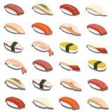 被隔绝的新寿司集合 库存照片