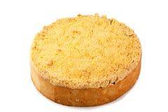 被隔绝的新近地被烘烤的热的苹果饼 免版税库存照片