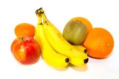 被隔绝的新鲜的五颜六色的果子 免版税库存图片
