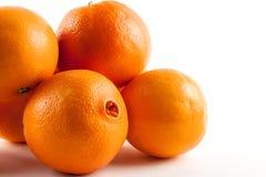 被隔绝的新鲜的成熟桔子 免版税库存照片