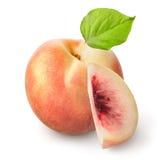 被隔绝的新鲜的桃子 库存照片