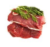 被隔绝的新鲜的牛肉肉 免版税库存照片