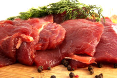 被隔绝的新鲜的牛肉肉 库存照片