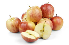 被隔绝的新鲜的苹果 图库摄影