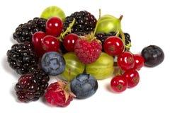 被隔绝的新鲜的莓果 免版税库存图片