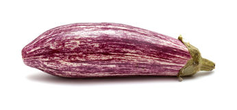 被隔绝的有条纹的茄子 库存照片