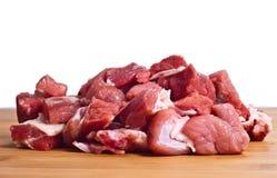 被隔绝的未加工的牛肉 免版税库存图片