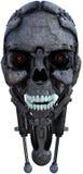 被隔绝的机器人机器人靠机械装置维持生命的人头 库存照片