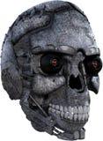 被隔绝的机器人机器人靠机械装置维持生命的人头 免版税库存图片