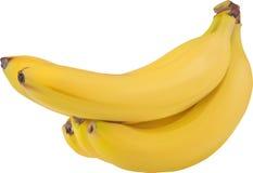 被隔绝的束黄色香蕉 库存照片
