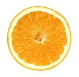 被隔绝的果子桔子在白色背景切成了两半 库存图片