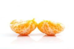 被隔绝的橙色普通话或蜜桔果子 免版税库存照片