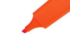 被隔绝的橙色标志 免版税库存照片