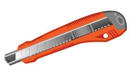 被隔绝的橙色铅笔刀 免版税库存图片