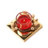 被隔绝的欢乐圣诞节胶凝体蜡烛 免版税库存照片