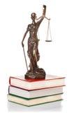 被隔绝的正义雕象 库存图片