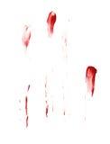 被隔绝的油漆污点 免版税库存图片