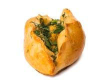 被隔绝的油酥点心小圆面包 免版税库存图片
