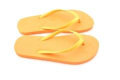 被隔绝的海滩鞋子 免版税库存照片