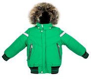 被隔绝的温暖的夹克 免版税库存照片