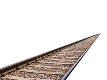 被隔绝的火车轨道 免版税库存照片