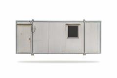 被隔绝的灰色容器箱子 免版税库存图片