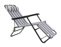 被隔绝的灰色镶边海滩睡椅 库存图片