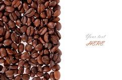 被隔绝的烤咖啡豆背景纹理 图库摄影