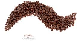 被隔绝的烤咖啡豆背景纹理 库存图片