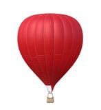 被隔绝的热空气红色气球 免版税图库摄影