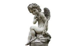 被隔绝的爱雕象丘比特 免版税库存图片