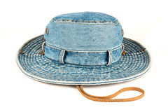 被隔绝的牛仔布帽子 免版税库存照片