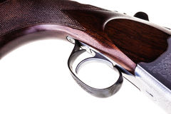 被隔绝的猎枪触发器 免版税库存照片