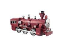 被隔绝的玩具火车角度图 免版税库存图片