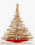 被隔绝的现代圣诞树 免版税库存图片
