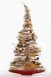 被隔绝的现代圣诞树 库存图片