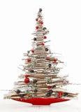 被隔绝的现代圣诞树 免版税库存照片