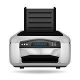 被隔绝的现代打印机电子设备对象 库存图片