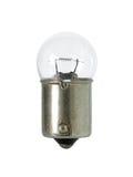 被隔绝的球形状白炽灯在白色背景clippi 免版税库存图片