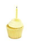 被隔绝的生日杯形蛋糕 免版税图库摄影