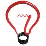 被隔绝的电灯泡, 3D 库存图片
