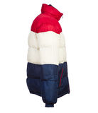 被隔绝的男性冬天夹克 免版税库存照片