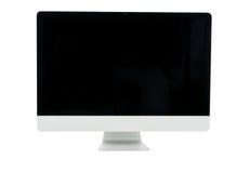 被隔绝的白色计算机显示器 免版税库存图片