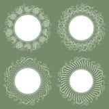 被隔绝的白色餐巾的汇集 时髦的设计 免版税库存照片