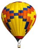 被隔绝的真正的热空气气球,明亮的颜色 库存照片