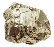 被隔绝的硫铁矿石头小卵石 免版税库存图片