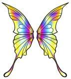 被隔绝的神仙或蝴蝶翼 向量例证