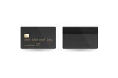 被隔绝的空白的黑信用卡大模型,裁减路线, 库存图片