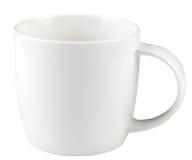 被隔绝的空的咖啡杯 库存图片